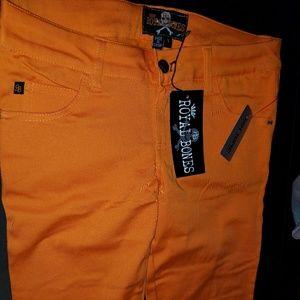 Royal Bones Pants - Orange Hot Topic Skinny Jeans